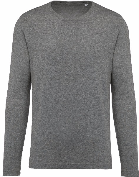 Tee shirt T-shirt Coton Bio Col Rond Manches Longues Homme K372 3